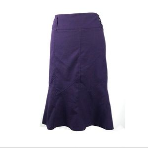 Torrid skirt purple flounce ponte pencil belt loop